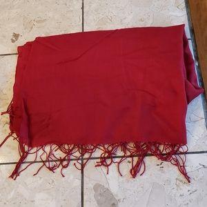 BCBG cashmere fringed shawl